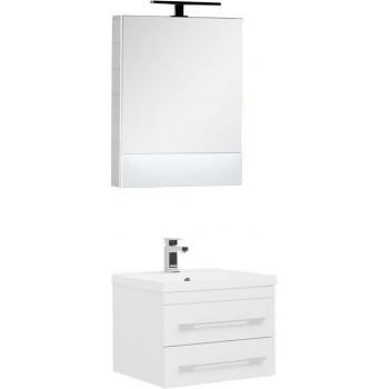 Комплект мебели для ванной Aquanet Нота NEW 58 белый (камерино)
