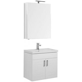 Комплект мебели для ванной Aquanet Рондо 70 белый (2 дверцы, зеркало камерино)