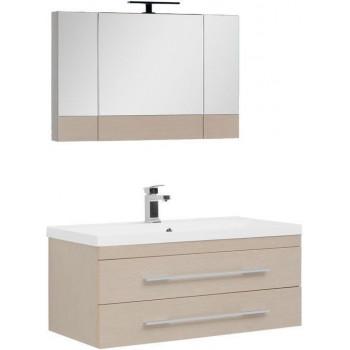 Комплект мебели для ванной Aquanet Нота NEW 100 светлый дуб (камерино)
