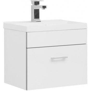 Тумба с раковиной Aquanet Верона NEW 50 белый (подвесная 1 ящик)