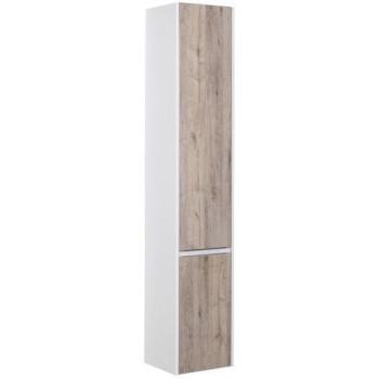 Шкаф-пенал для ванной Aquanet Клио 35 дуб кантри/белый