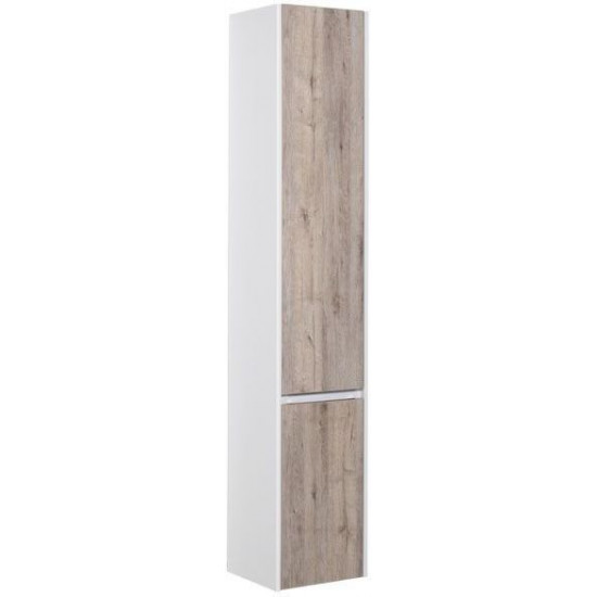 Шкаф-пенал для ванной Aquanet Клио 35 дуб кантри/белый в интернет-магазине ROSESTAR фото