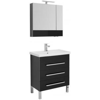 Комплект мебели для ванной Aquanet Сиена 70 черный (напольный 3 ящика)