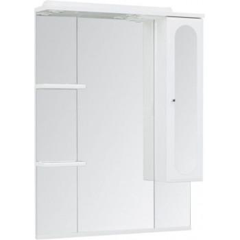 Зеркало-шкаф с подсветкой Aquanet Марсель 80 белый