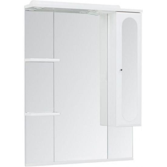 Зеркало-шкаф с подсветкой Aquanet Марсель 80 белый в интернет-магазине ROSESTAR фото