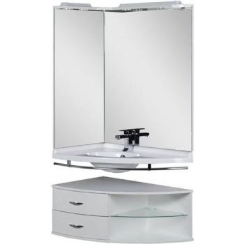 Комплект мебели для ванной Aquanet Корнер 89 L белый (открытый)
