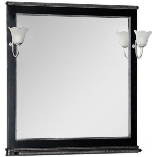 Зеркало Aquanet Валенса 90 черный краколет/серебро в интернет-магазине ROSESTAR фото