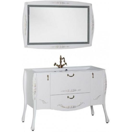Комплект мебели для ванной Aquanet Виктория 120 белый/золото в интернет-магазине ROSESTAR фото