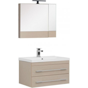 Комплект мебели для ванной Aquanet Нота NEW 75 светлый дуб (камерино)