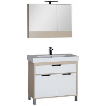 Комплект мебели для ванной Aquanet Гретта 90 светлый дуб (камерино)