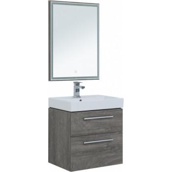 Комплект мебели для ванной Aquanet Nova 60 дуб рошелье (2 ящика)