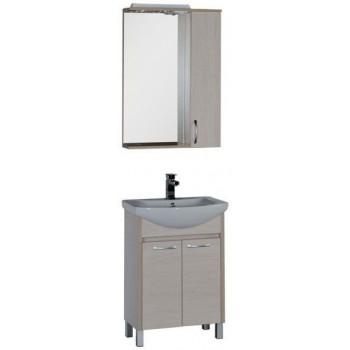 Комплект мебели для ванной Aquanet Донна 60 белый дуб (2 дверцы)