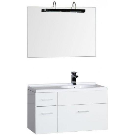 Комплект мебели для ванной Aquanet Данте 85 R белый в интернет-магазине ROSESTAR фото