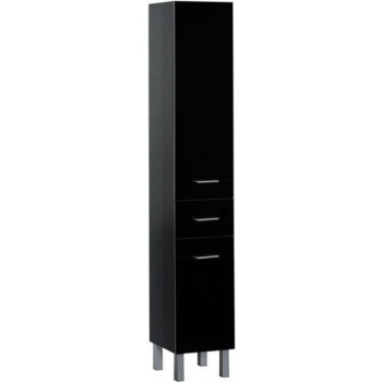 Шкаф-пенал для ванной Aquanet Верона 35 черный (напольный)