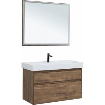 Комплект мебели для ванной Aquanet Nova Lite 100 дуб рустикальный (2 ящика)