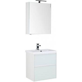 Комплект мебели для ванной Aquanet Гласс 60 белый