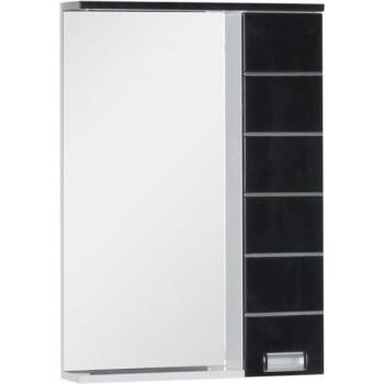 Зеркало-шкаф с подсветкой Aquanet Доминика 60 LED черный