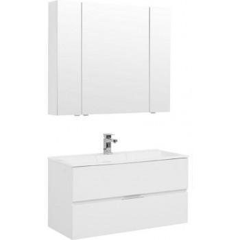 Комплект мебели для ванной Aquanet Алвита 100 белый