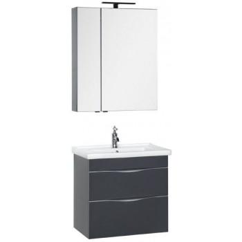 Комплект мебели для ванной Aquanet Эвора 70 серый антрацит