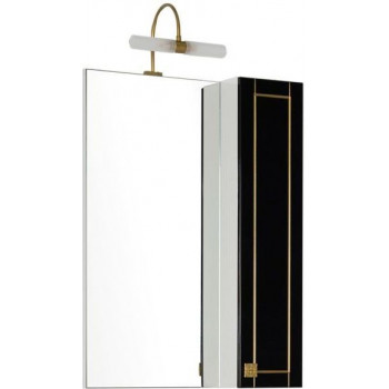 Зеркало-шкаф Aquanet Честер 60 черный/золото