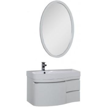 Комплект мебели для ванной Aquanet Сопрано 95 L белый (3 ящика)