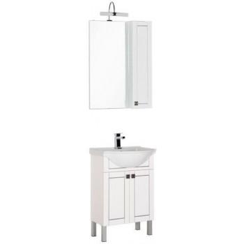 Комплект мебели для ванной Aquanet Честер 60 белый/серебро