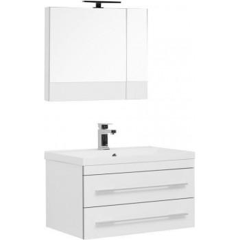 Комплект мебели для ванной Aquanet Верона NEW 75 белый (подвесной 2 ящика)