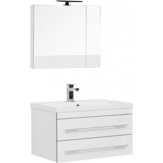 Комплект мебели для ванной Aquanet Верона NEW 75 белый (подвесной 2 ящика) в интернет-магазине ROSESTAR фото