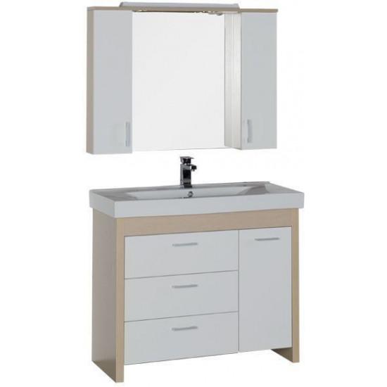 Комплект мебели для ванной Aquanet Тиана 100 светлый дуб в интернет-магазине ROSESTAR фото
