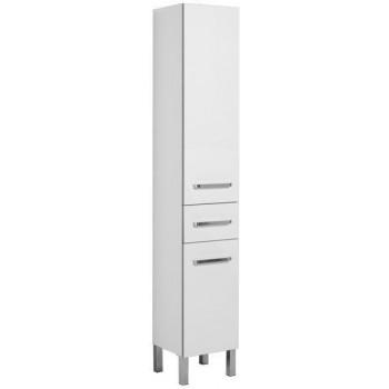 Шкаф-пенал для ванной Aquanet Сиена 35 L б/к белый (напольный)