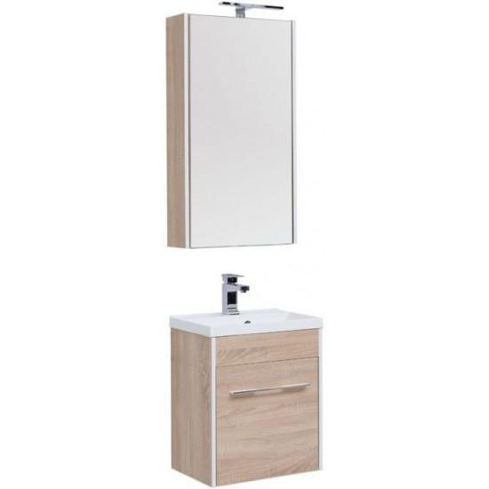 Комплект мебели для ванной Aquanet Августа 50 дуб сонома в интернет-магазине ROSESTAR фото