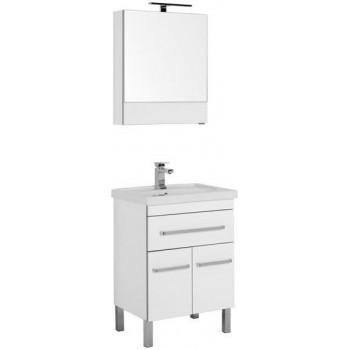 Комплект мебели для ванной Aquanet Сиена 60 белый (напольный 1 ящик 2 дверцы)