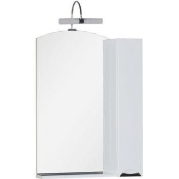 Зеркало-шкаф Aquanet Асти 65 белый (шкаф/полка)