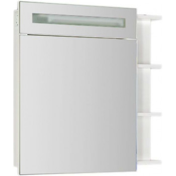 Зеркало-шкаф с подсветкой Aquanet Адель 80 белый, открытое