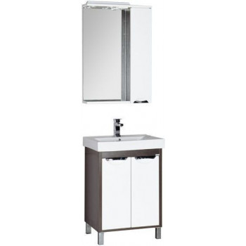 Комплект мебели для ванной Aquanet Гретта 60 венге (2 дверцы)