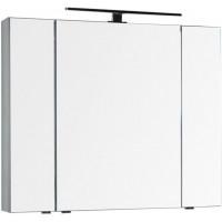 Зеркало-шкаф Aquanet Эвора 100 серый антрацит