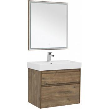 Комплект мебели для ванной Aquanet Nova Lite 75 дуб рустикальный (2 ящика)