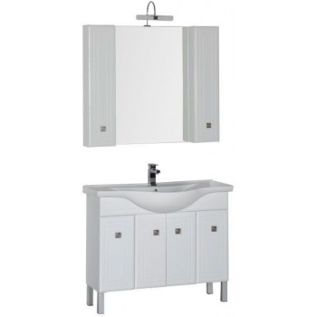 Комплект мебели для ванной Aquanet Стайл 105 белый (4 дверцы)