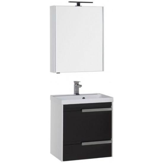 Комплект мебели для ванной Aquanet Тиволи 60 черный в интернет-магазине ROSESTAR фото