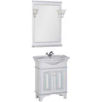 Комплект мебели для ванной Aquanet Валенса 70 белый краколет/серебро