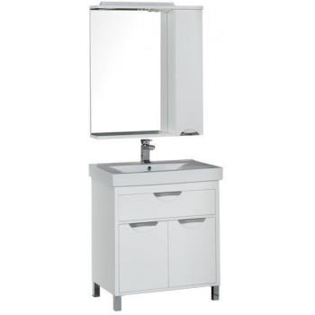 Комплект мебели для ванной Aquanet Гретта 75 белый