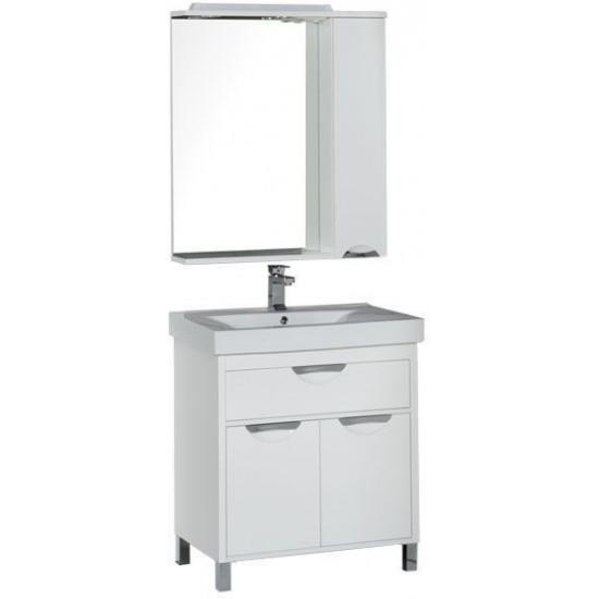 Комплект мебели для ванной Aquanet Гретта 75 белый в интернет-магазине ROSESTAR фото