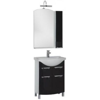 Комплект мебели для ванной Aquanet Асти 65 черный (зеркало шкаф/полка)