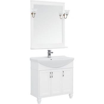 Комплект мебели для ванной Aquanet Валенса NEW 85 белый