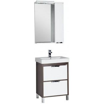 Комплект мебели для ванной Aquanet Гретта 60 венге (2 ящика)