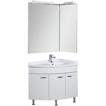 Комплект мебели для ванной Aquanet Корнер 89 R белый (закрытый)