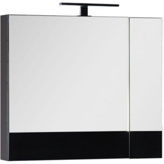 Зеркало-шкаф Aquanet Нота 75 черный в интернет-магазине ROSESTAR фото
