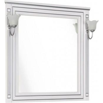 Зеркало Aquanet Паола 90 белый/серебро