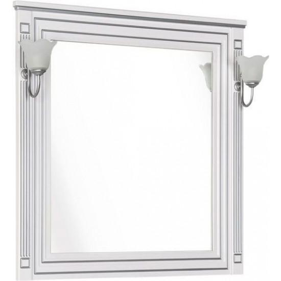 Зеркало Aquanet Паола 90 белый/серебро в интернет-магазине ROSESTAR фото