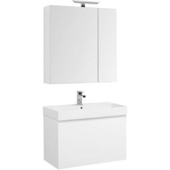Комплект мебели для ванной Aquanet Йорк 85 белый